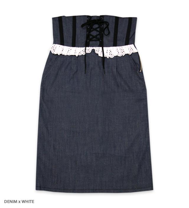 CORSETTI high-waist skirt