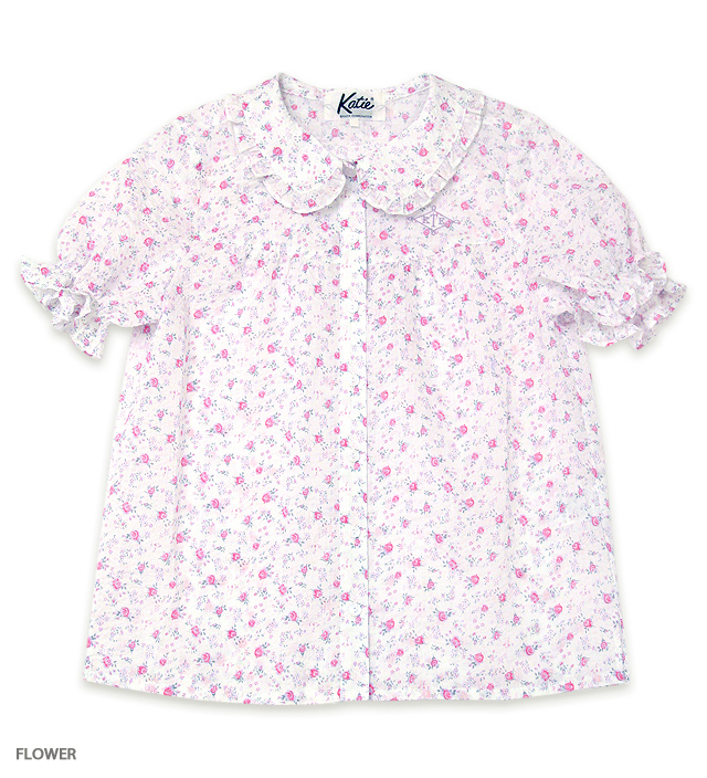 ROSE GARDEN puff blouse