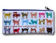 【猫柄】カツミアート(松下カツミ)猫柄ペンケース:キャットキャットキャット