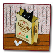 猫柄タオルハンカチ:ショッピングバッグ