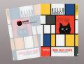 【猫柄】カツミアート(松下カツミ)クリアファイルA5(小)サイズ:モンドリアンキャット