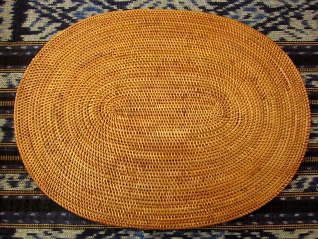 アタ製・楕円形型ランチョンマット(Lサイズ・ナチュラルカラー)AT025