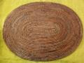 アタ製・楕円形型ランチョンマット(Lサイズ・ダークブラウン)AT027