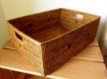 アタ製・ラージサイズの収納ボックス(蓋無し・長方形・黒モチーフ有り)AT067