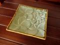 フランジパニのスクエアプレート(グリーン、バリ島タバナン焼き)IA005