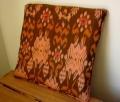 イカット(かすり織り)製 座布団タイプ・クッションB(40cm正方形/中綿付き)IK036