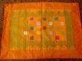 バリ島のソンケット(浮き織り)製ランチョンマット(オレンジ)SK006