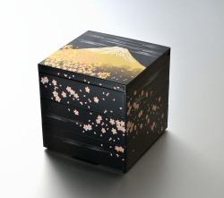 さくら富士5.0三段重(黒)(A)