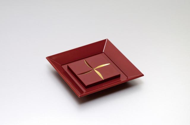 角箸置セット(銀朱)