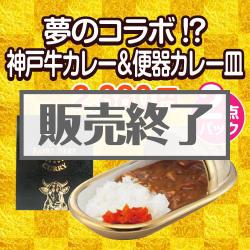 夢のコラボ!?神戸牛カレー&便器カレー皿2点パック
