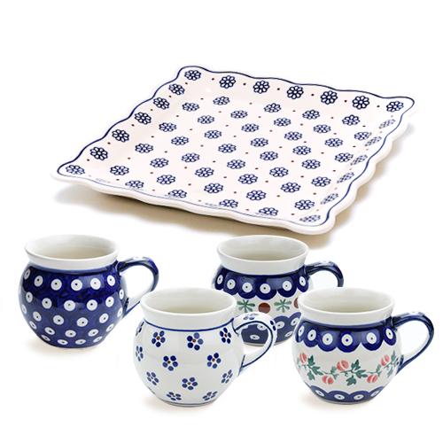 ポーランド陶器 ギフトセット(ファミリー)・A
