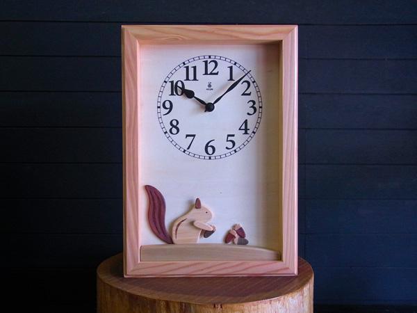 3d3ddaf9c4 木の振子時計 【リスの時計】 手作り時計工房 KICORI ーキコリー