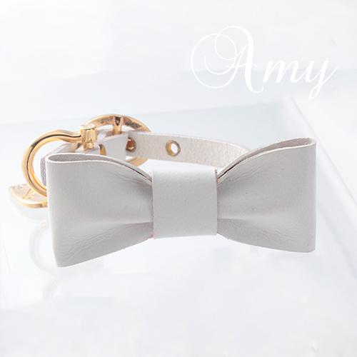 【アウトレット】【Amy】首輪 ホワイト SS