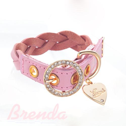 【アウトレット】【Brenda】首輪 オペラモーブ S,M