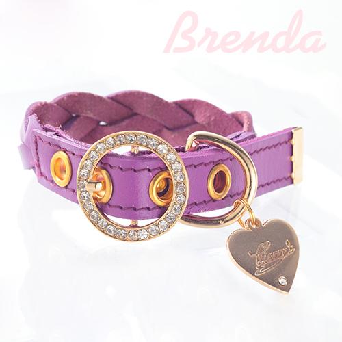 【アウトレット】【Brenda】首輪 パープル S,M