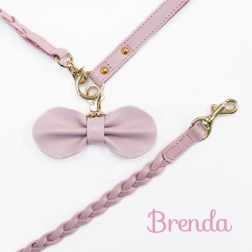 【Brenda】リード ピンク 首輪S~M用