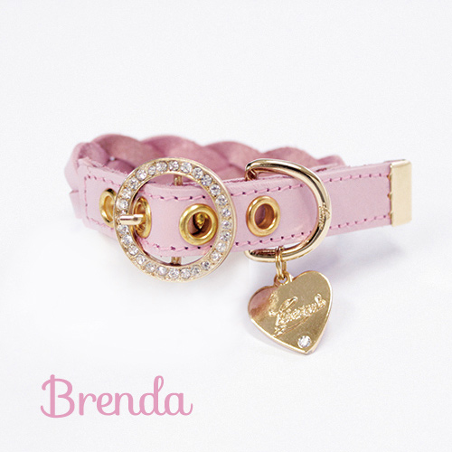 【Brenda】首輪 ピンク S,M