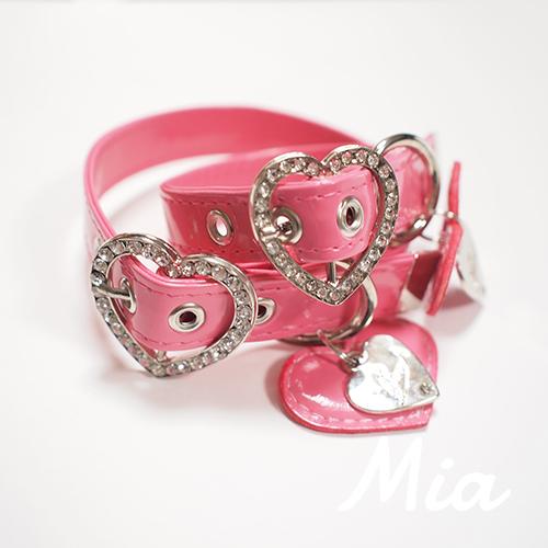 【アウトレット】【Mia】首輪 ピンク S~XL