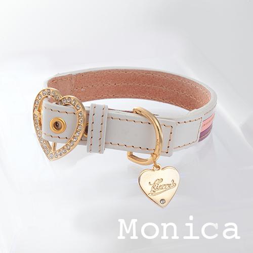 【Monica】首輪 マルチカラー(ピンク) ML,L