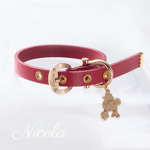 【Nicola】首輪 レッド S