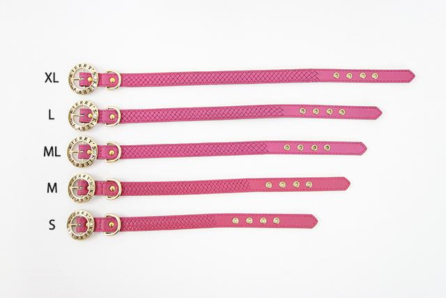 Liz 首輪 ピンク 犬 首輪 かわいい