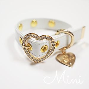 【アウトレット】【Mimi】首輪  ホワイト  S,M