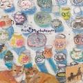 MAN‐28 フリヒリアナの白い輝きに憩う愛猫たち[マンハッタナーズ MANHATTANER'S][新着]
