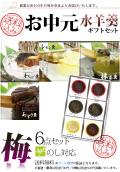 和菓子 水羊羹5/わらび羹1個入(小豆2個/抹茶2個/レモン1個/わらび羹1個)
