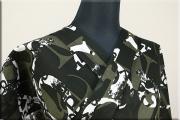 ViVi浴衣(ゆかた)  綿 浴衣(ゆかた) オーダー仕立て付き アルファベット 黒xカーキ ◆男女兼用◆