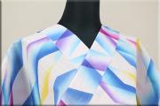 浴衣(ゆかた) 注染(細川染) 綿麻 オーダー仕立て付き 抽象柄 カラフル ◆男女兼用◆