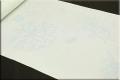 京都浅見謹製 夏紗長襦袢 オーダーお仕立付き 海の声 絹100% シアン