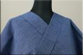 出羽木綿 オーダーお仕立付き 洗える普段着着物 上杉藩 無地 青01  ◆男女兼用◆