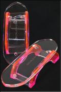 グラスリッパー 透明な下駄 女物 あづまやオリジナル ピンク M