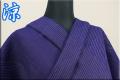 夏着物 近江ちぢみ Kimono Factory nono 楊柳 オーダー仕立て付き 青雨 ストライプ 紫 ◆男女兼用◆