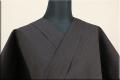 片貝木綿 紺仁工房 夏木綿着物 オーダー仕立て付き 綿ちぢみ チェック 茶 ◆男女兼用◆