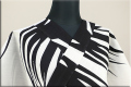Kimono Factory nono 浴衣(ゆかた) 綿麻 オーダー仕立て付き 浴衣影 黒x白 ◆男女兼用◆