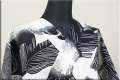 Rumi Rock(ルミロック)浴衣(ゆかた) 綿麻 オーダー仕立て付き 毛波 白x黒 ◆男女兼用◆