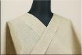 浴衣(ゆかた) 綿麻 オーダー仕立て付き 格子 ベージュ ◆男女兼用◆
