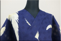 ViVi浴衣(ゆかた)  浴衣(ゆかた) オーダー仕立て付き 羽 紺  ◆女性にオススメ◆