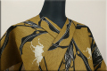 JUNKO KOSHINO浴衣(ゆかた) 綿麻 オーダー仕立て付き とうもろこしとカブト虫 隼73 ◆男女兼用◆