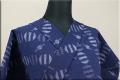 久留米絣 木綿着物 オーダーお仕立て付き 普段着きもの 白中絣 紺 ◆女性にオススメ◆