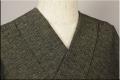 三河木綿 オーダーお仕立付き 洗える普段着着物  厚地 No.04 緑黄白系 ◆男女兼用◆