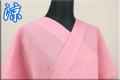 夏着物 小千谷ちぢみ 楊柳 オーダー仕立て付き 杉山織物 ピンク ◆女性にオススメ◆