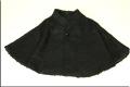 ◇現品限り◇黒プードルフェイクファー ケープコート シングルボタン
