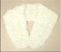和装・洋装兼用 レッキスファー 巻きバラ ショール 白