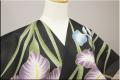 オーダー仕立て付き 浴衣(ゆかた) JUNKO KOSHINO 雅114 花菖蒲 黒 女性にオススメ