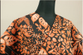 Kimono Factory nono 浴衣(ゆかた) オーダー仕立て付き 葉 黒 橙 女性にオススメ