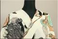 ツモリチサト浴衣(ゆかた) オーダー仕立て付き 貴婦人とバッグ ベージュ 女性にオススメ