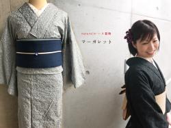 【新作】naturalレース着物-マーガレット(2色・お届け5月下旬・送料無料)