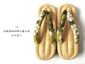 【FromNY下駄*限定1足】本格派MODERNな畳み表-白の花々(即納品・Mサイズ23cm・送料1000円)